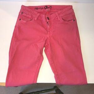Alice & Olivia pink jeans